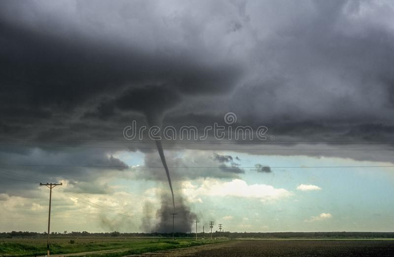 Forte tornado sopra le pianure di Colorado orientale immagine stock libera da diritti