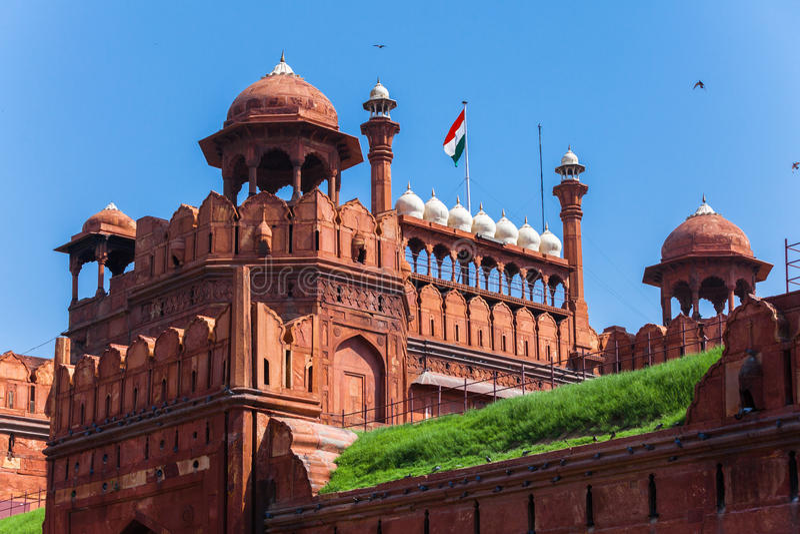 Forte vermelho em Deli, India foto de stock