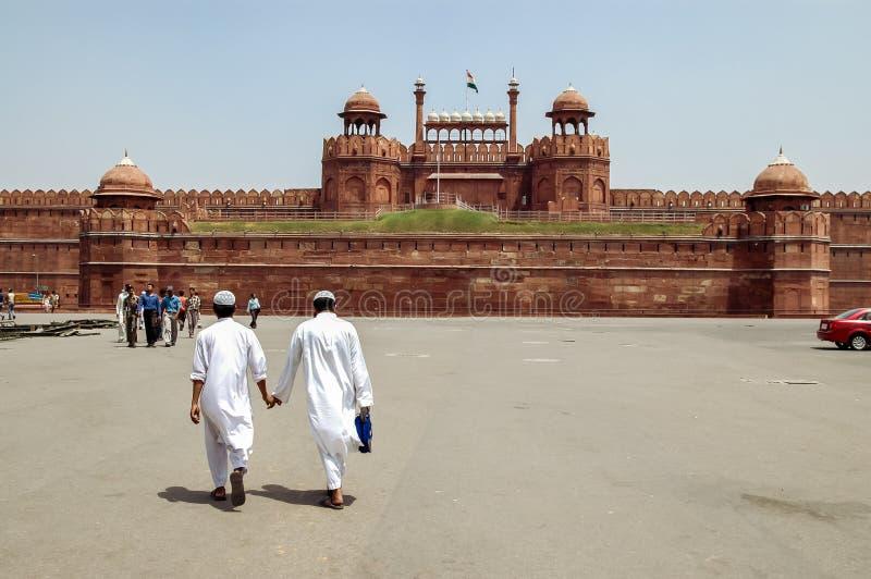 Forte vermelho em Nova Deli, Índia imagens de stock