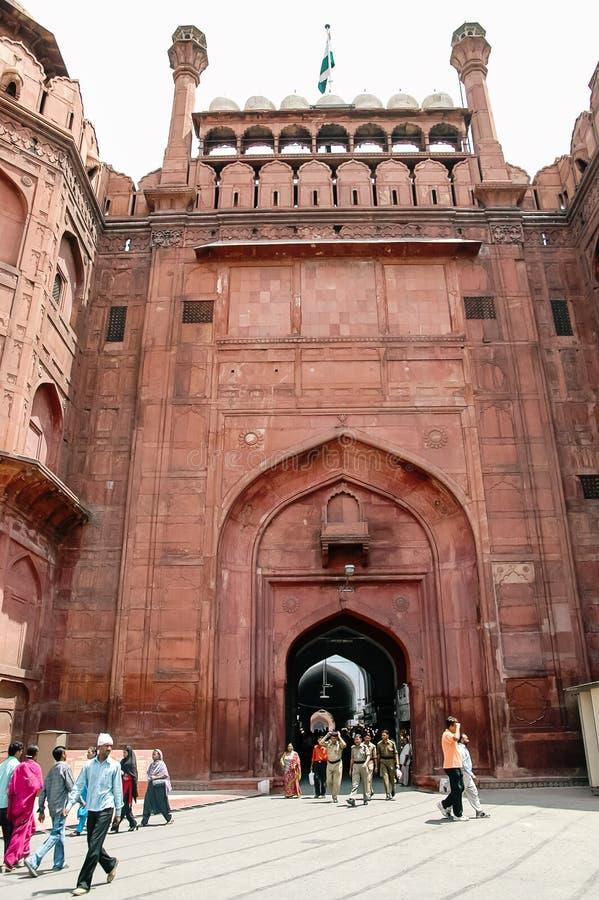 Forte vermelho em Nova Deli, Índia imagem de stock royalty free
