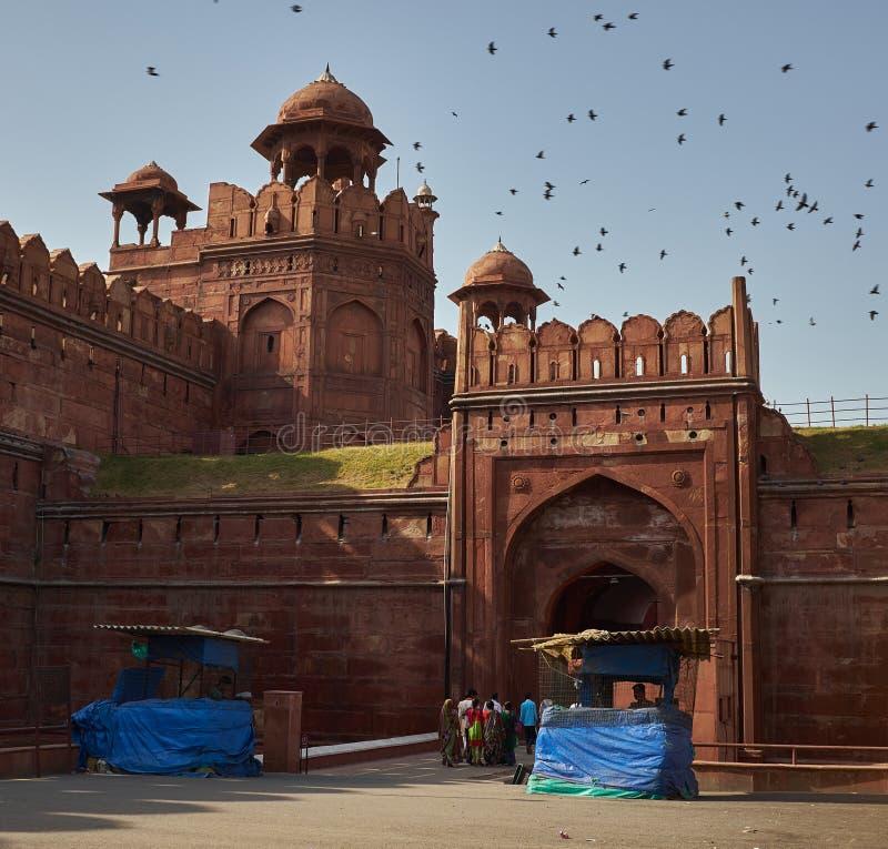 Forte vermelho, Nova Deli, Índia fotografia de stock