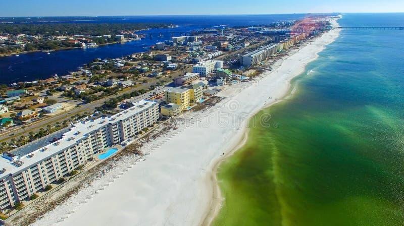 Forte Walton Beach do ar, Florida imagem de stock royalty free