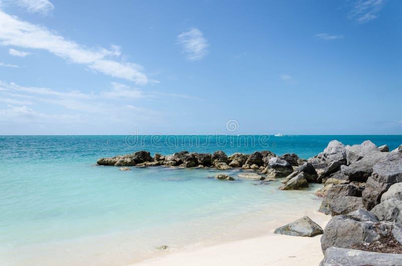Forte Zachary Taylor Beach em Key West foto de stock