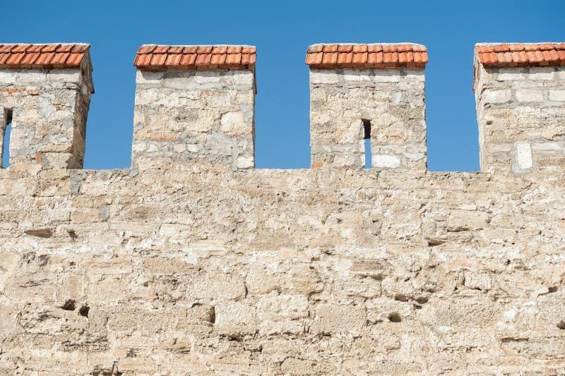 Forteca ściana zdjęcia royalty free