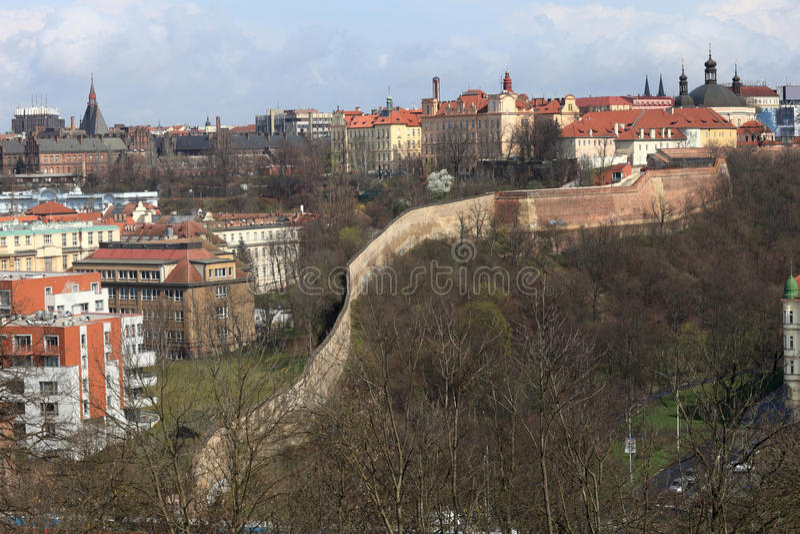 Forteca ściana w Praga obraz stock