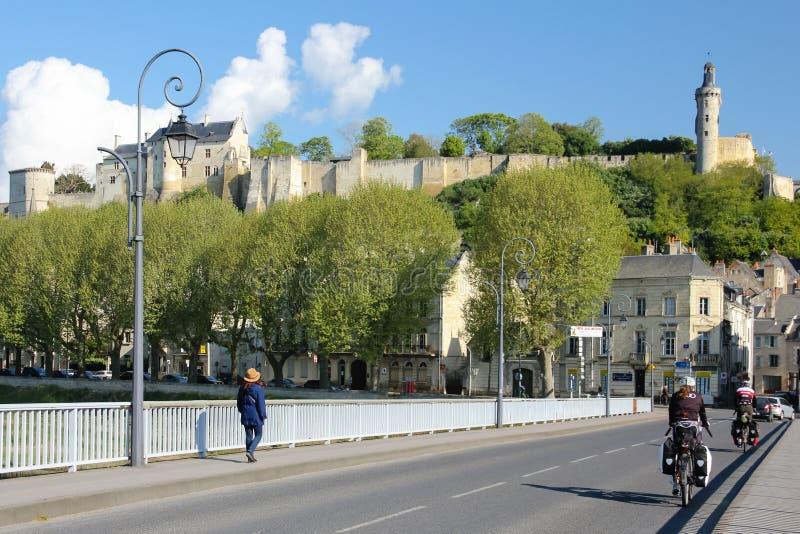 Forteca Chinon Francja obraz royalty free