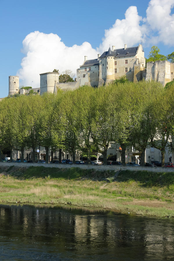 Forteca Chinon Francja obrazy royalty free