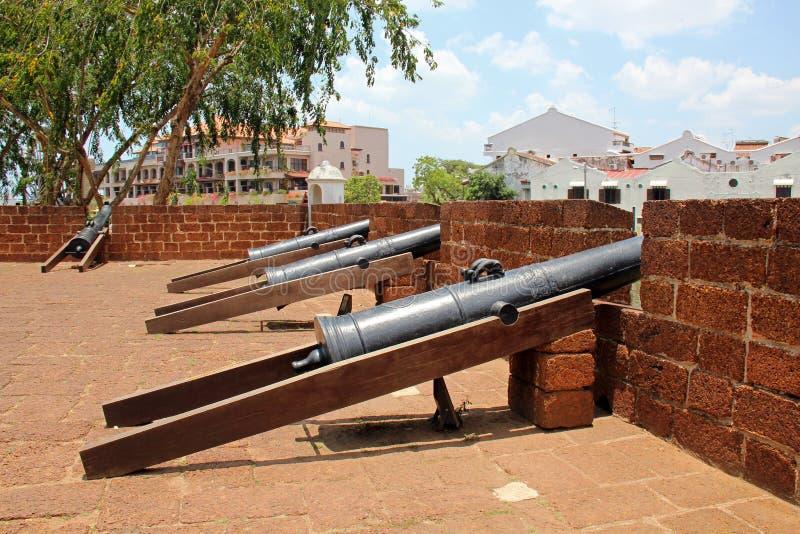 Forteca Malacca, Rekonstruujący bastion - Malacca, Malezja fotografia royalty free