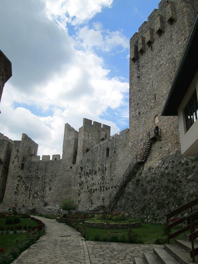Forteca monaster Manasija w Despotovac, Serbia zdjęcie stock
