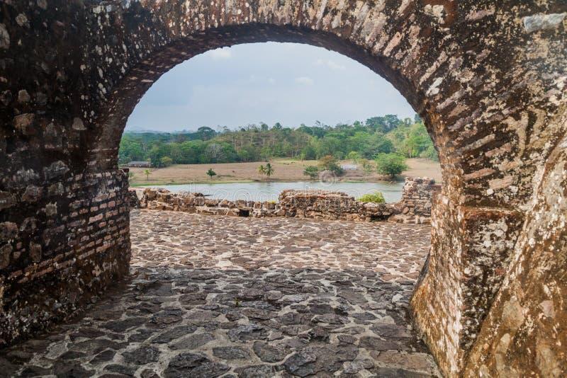 Forteca Niepokalany poczęcie w wioski Ell Castillo przy San Juan rzeką, Nicarag fotografia stock