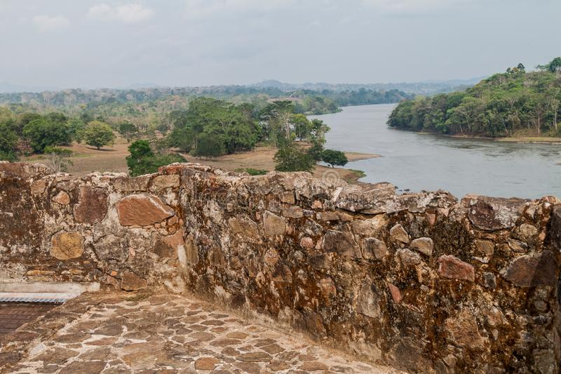 Forteca Niepokalany poczęcie w wioski Ell Castillo przy San Juan rzeką, Nicarag zdjęcie royalty free