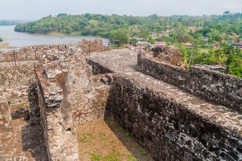 Forteca Niepokalany poczęcie w wioski Ell Castillo przy San Juan rzeką, Nicarag zdjęcia royalty free