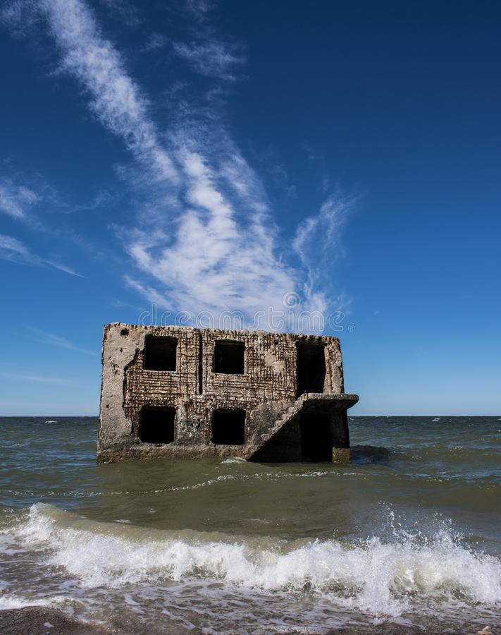 Forteca ruiny w morzu bałtyckim obrazy stock