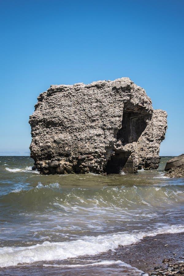 Forteca ruiny w morzu bałtyckim zdjęcia stock