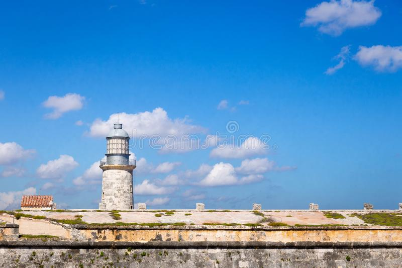 Forteca San Carlos De Los angeles Cabaña w Hawańskim Kuba zdjęcie stock