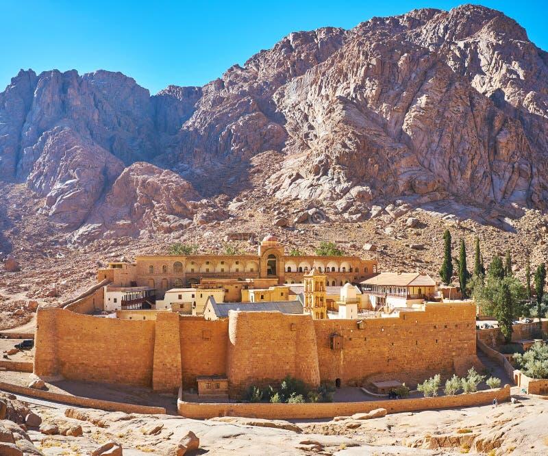 Forteca St Catherine, Synaj, Egipt zdjęcia stock