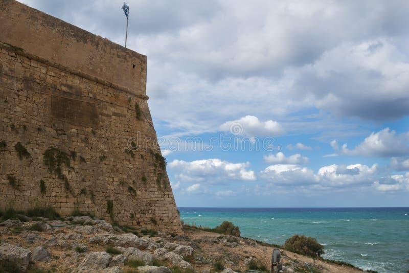 Forteca w Rethymno, Crete, Grecja zdjęcie stock