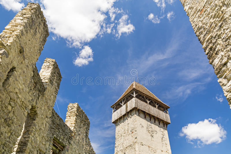 Forteca w Transylvania, Rumunia fotografia royalty free
