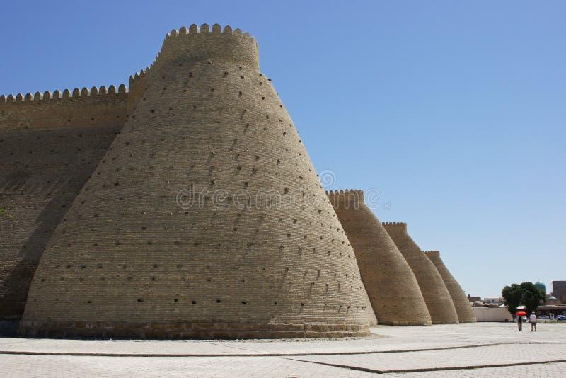 Forteczna arka, Jedwabnicza droga, Bukhara, Uzbekistan, Azja zdjęcie stock