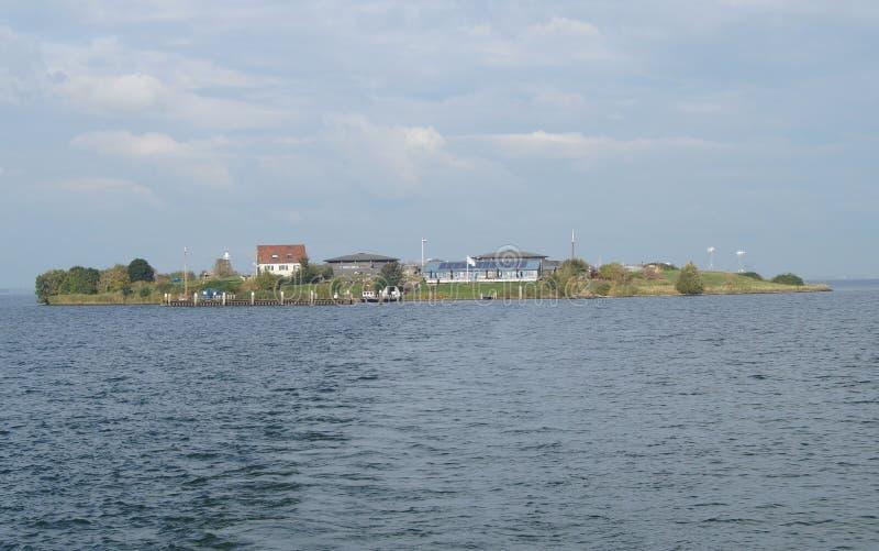 Forteczna wyspa Pampus w holandiach obraz stock