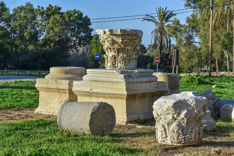 Forteczne ruiny, Ashkelon, Izrael obraz royalty free