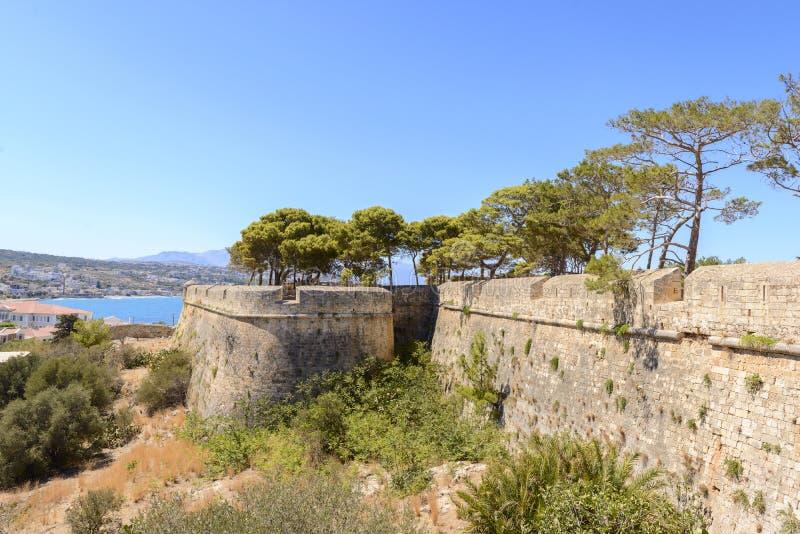 Forteczny Fortezza. Rethymno, Crete. Grecja fotografia stock