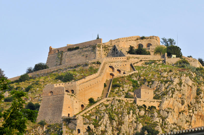 forteczny Greece nafplio palamidi zdjęcia royalty free