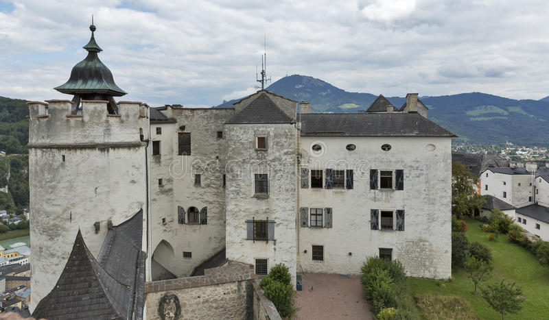Forteczny Hohensalzburg w Salzburg, Austria fotografia stock