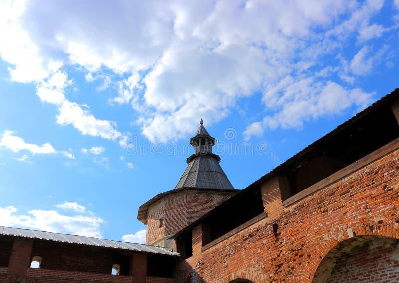 Forteczny Kremlin Zaraysk zdjęcia royalty free
