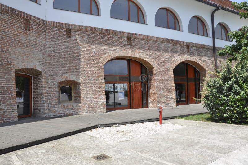Forteczny Maria Therezia podwórze w Timisoara miasteczku od Banat okręgu administracyjnego w Rumunia zdjęcie stock