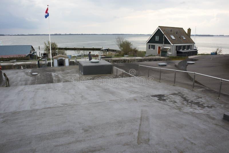 Forteiland Pampus ή νησί Pampus οχυρών, τεχνητό νησί στο IJmeer, επαρχία της Βορράς-Ολλανδίας, Κάτω Χώρες στοκ φωτογραφίες