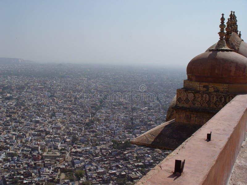 forten jaipur roofs tigern fotografering för bildbyråer