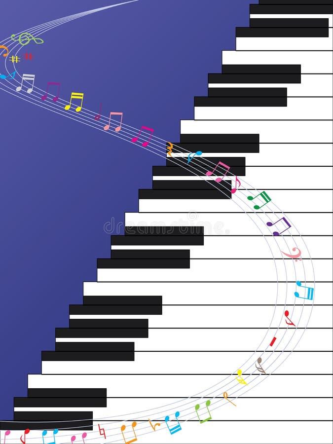 Fortepianowa Drabinowa muzyki krzywa ilustracja wektor