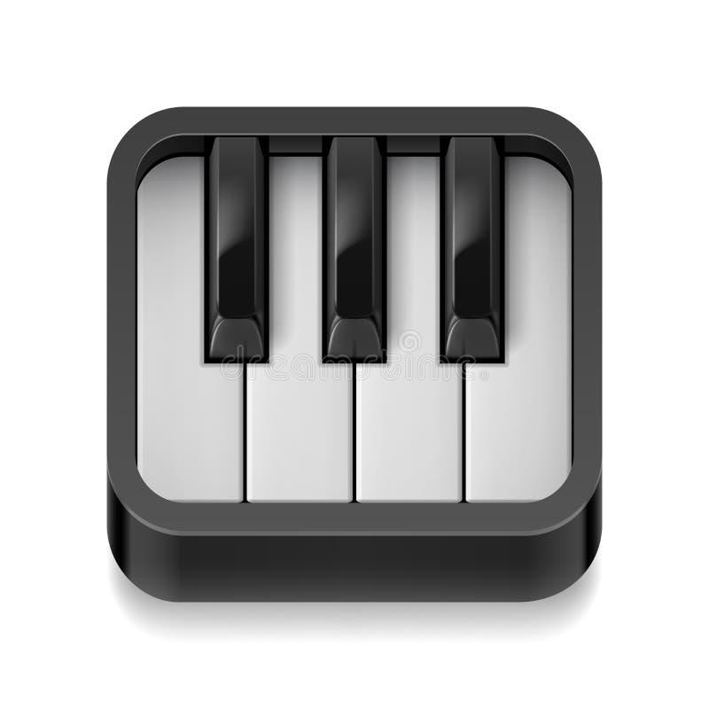 Fortepianowa ikona royalty ilustracja
