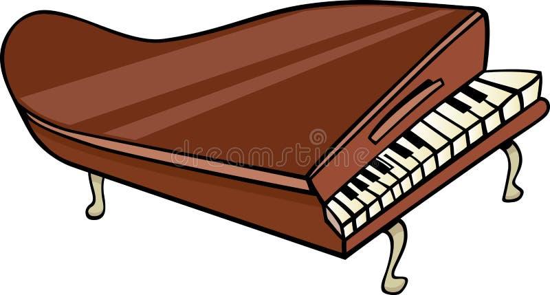 Fortepianowa klamerki sztuki kreskówki ilustracja royalty ilustracja