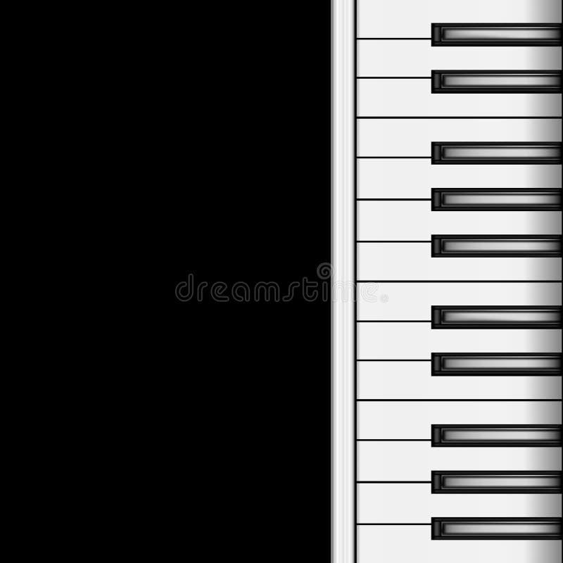 Fortepianowa klawiatura na Ciemnym tle wektor royalty ilustracja
