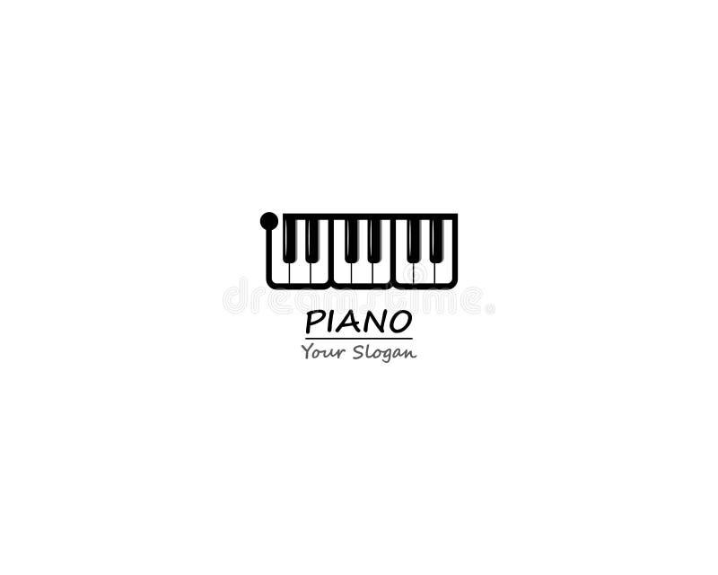 Fortepianowego grill ikony klawiaturowego szablonu ilustracyjny projekt royalty ilustracja