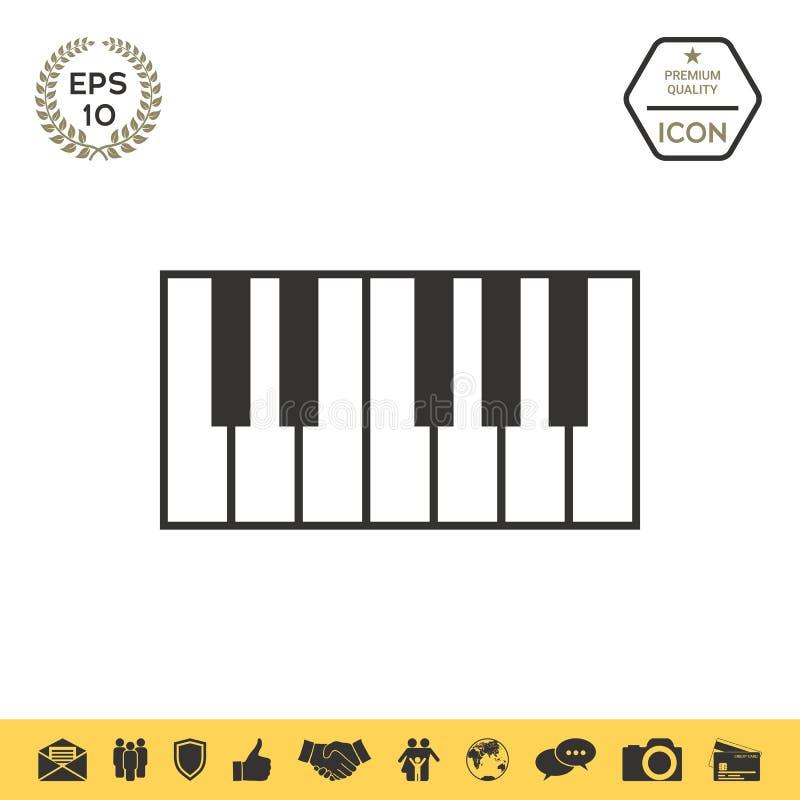 Fortepianowej klawiatury ikona ilustracji