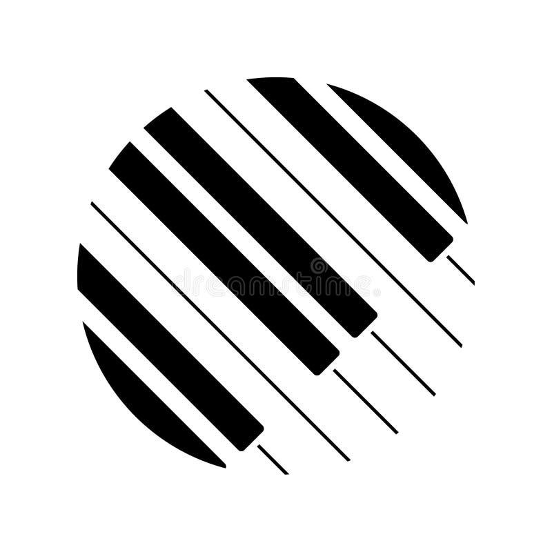 Fortepianowej klawiatury logo również zwrócić corel ilustracji wektora ilustracji