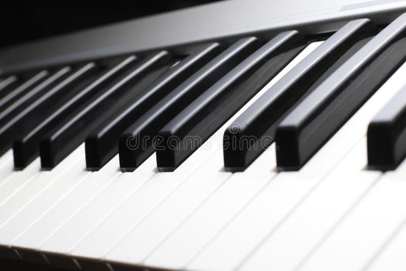 Fortepianowej klawiatury zakończenie up obrazy stock