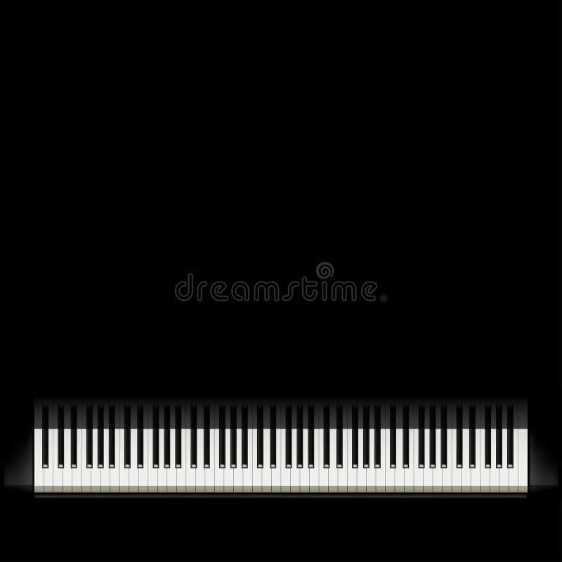 Fortepianowy czarny tło ilustracji