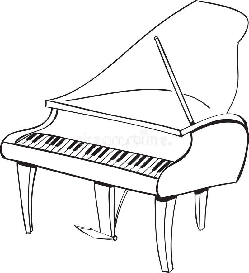 Fortepianowy Doodle ilustracja wektor