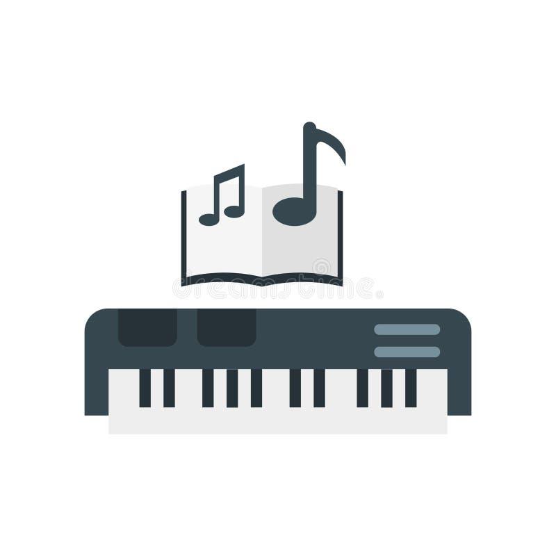 Fortepianowy ikona wektoru znak i symbol odizolowywający na białym tle ilustracja wektor