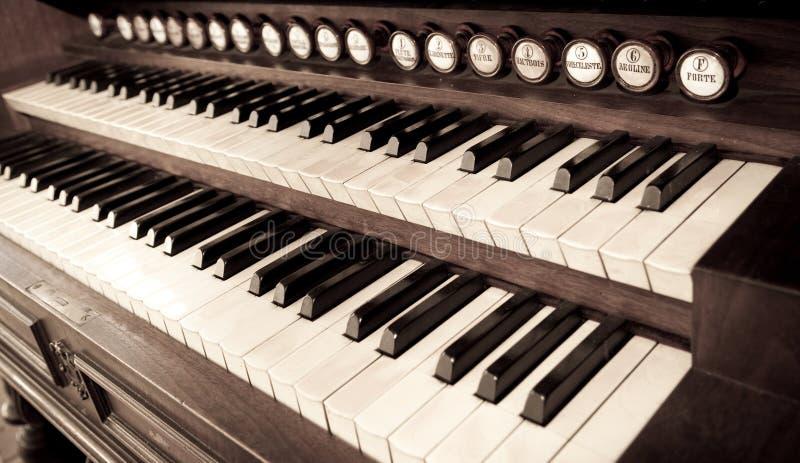 fortepianowy rocznik obrazy stock