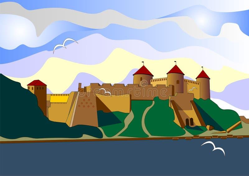 forteresse illustration libre de droits