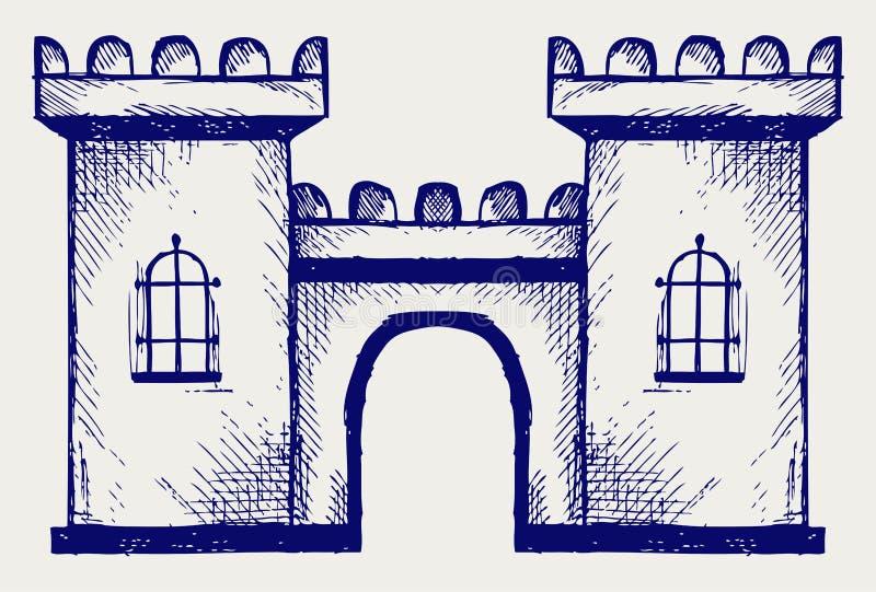 Forteresse antique illustration de vecteur