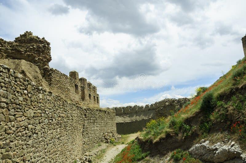 Forteresse antique Hoshap, construction du règne du royaume d'Urartu image libre de droits