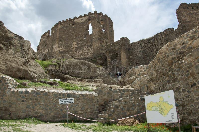 Forteresse antique Hoshap, construction du règne du royaume d'Urartu photos libres de droits
