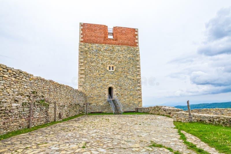 Forteresse au château de Medvedgrad photographie stock libre de droits