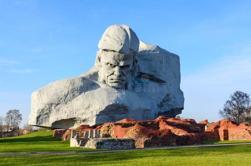 Forteresse complexe commémorative de héros de Brest Courage de monument image stock